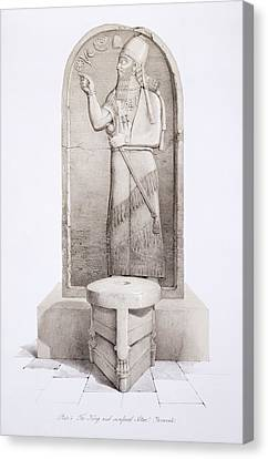 The King And Sacrificial Altar, Nimrud Canvas Print by English School