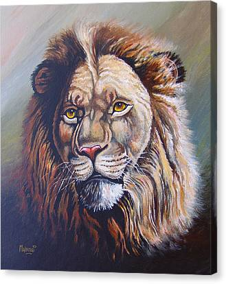 Canvas Print featuring the painting The King by Anthony Mwangi