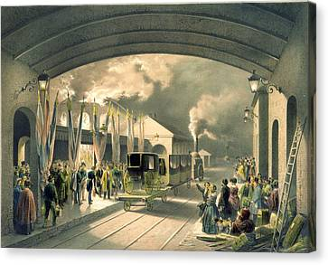 The King At New Cross Station Canvas Print by Edouard Pingret