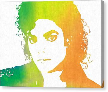 The King Of Pop Art Canvas Print