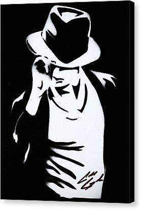 Celeb Canvas Print - The King Of Pop  by Caleb Goodman
