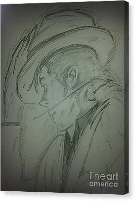 Michael Jackson Sketch Canvas Print - The King Of Pop by Collin A Clarke
