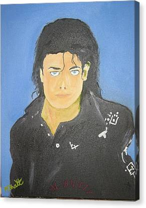 The King Of Pop Canvas Print by M Bhatt
