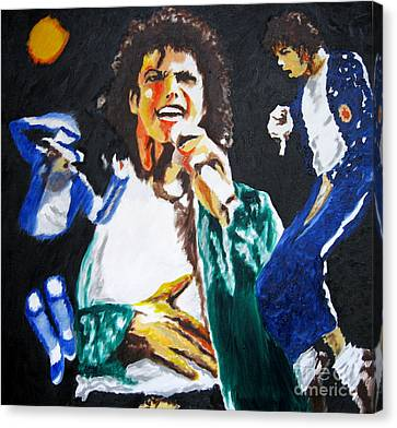 The King Of Pop Michael Jackson Canvas Print by Ronald Young