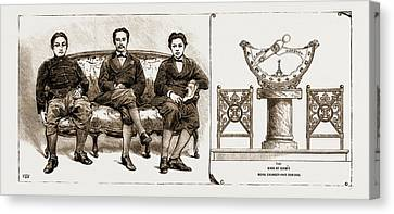 The King Of Siam And Two Of His Brothers Canvas Print