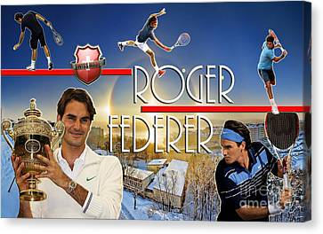 The King Roger Federer Canvas Print by Christopher Finnicum