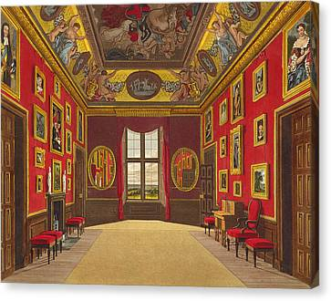 The Kings Closet, Windsor Castle Canvas Print by Charles Wild