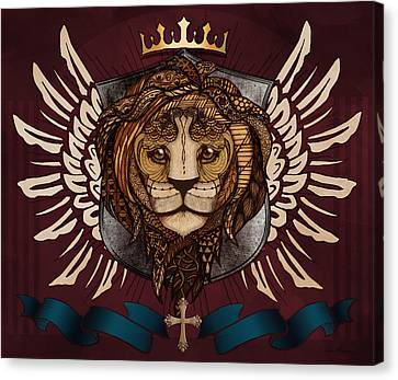 The King's Heraldry Canvas Print
