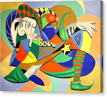 The Kings Jester Canvas Print by Anthony Falbo