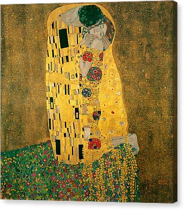 The Kiss - Gustav Klimt Canvas Print by Tilen Hrovatic