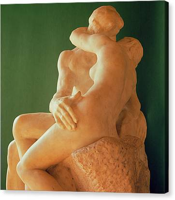 Passionate Lovers Canvas Print - The Kiss by Auguste Rodin