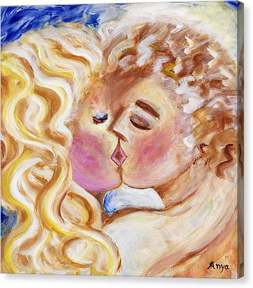 The Kiss Canvas Print by Anya Heller