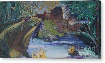 To Kiss A Frog Canvas Print
