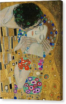The Kiss Detail Canvas Print by Gustav Klimt