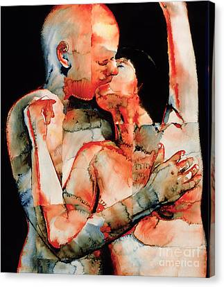 Passionate Lovers Canvas Print - The Kiss by Graham Dean