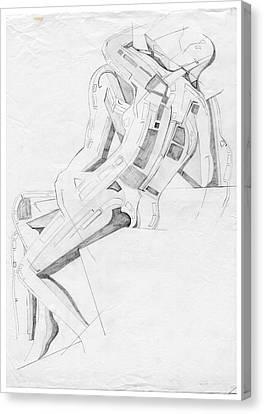 The Kiss - Homage Rodin Canvas Print
