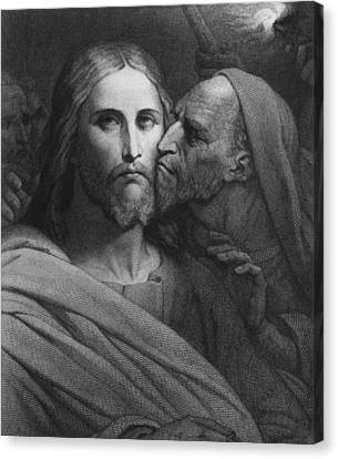 The Kiss Canvas Print - The Kiss Of Judas by Ary Scheffer