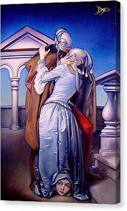 The Kiss Of Unrequited Love Canvas Print by Patrick Anthony Pierson