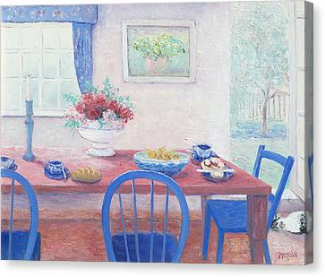 The Kitchen Table Laid For Lunch Canvas Print