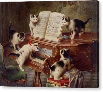 The Kittens Recital Canvas Print by Carl Reichert