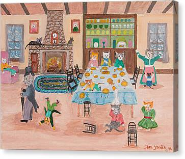 The Kittletons No School Today Canvas Print by Sam Yonts