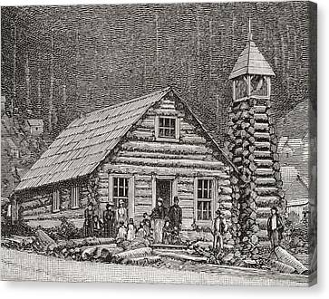 The Klondike Presbyterian Church At Juneau, Alaska Canvas Print by American School