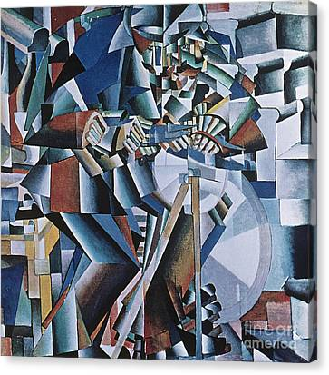 The Knife Grinder Canvas Print by Kazimir  Malevich