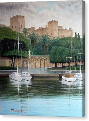 The Knights Castle Canvas Print by Anastassios Mitropoulos