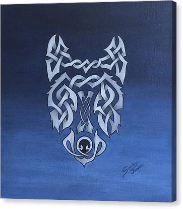 The Knotty Wolf Canvas Print by Sandy Jasper