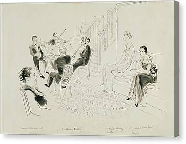 The Krettly Quartet Canvas Print by Rene Bouet-Willaumez