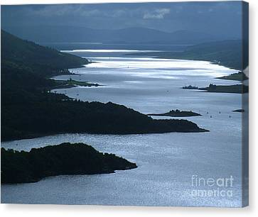 The Kyles Of Bute Canvas Print by Joan-Violet Stretch