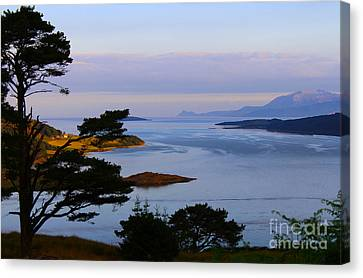 The Kyles Of Bute Landscape Canvas Print by JM Braat Photography