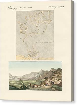 The Labyrinth Of Crete Canvas Print by Splendid Art Prints
