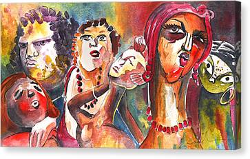 The Ladies Of Loket In The Czech Republic Canvas Print by Miki De Goodaboom