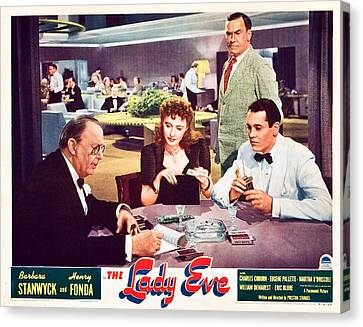 Sturges Canvas Print - The Lady Eve, Us Lobbycard, Front by Everett