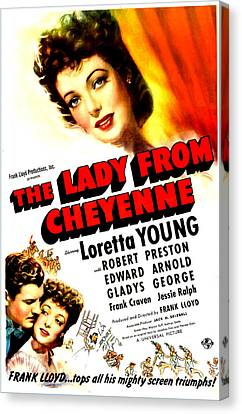 The Lady From Cheyenne, Us Poster Canvas Print by Everett