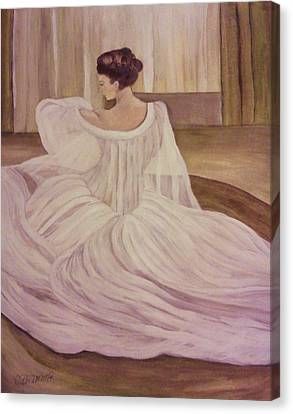 The Lady In White Canvas Print by Christy Saunders Church