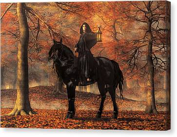Wiccan Canvas Print - The Lady Of Halloween by Daniel Eskridge