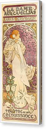 Camellia Canvas Print - The Lady Of The Camellias by Celestial Images