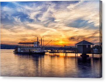 The Lady Of The Lake Canvas Print by Mark Papke