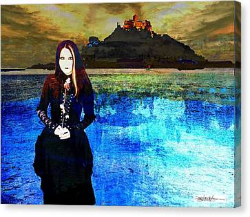 Artists Of Puerto Rico Canvas Print - The Lady Of The Lake by Miguel Conesa Osuna