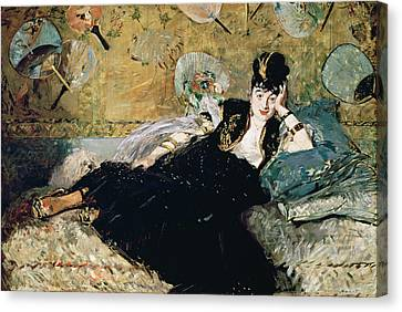 The Lady With Fans, Portrait Of Nina De Callias Canvas Print by Edouard Manet