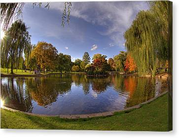 The Lagoon - Boston Public Garden Canvas Print