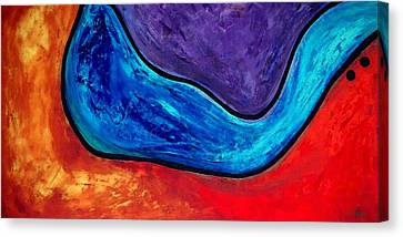 The Lake - Abstract Art By Sharon Cummings Canvas Print by Sharon Cummings