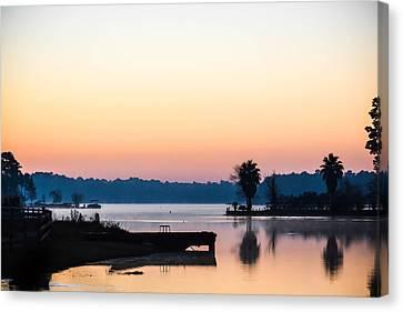 The Lake Before Sunrise Canvas Print