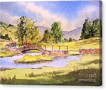 The Lake District - Slater Bridge Canvas Print