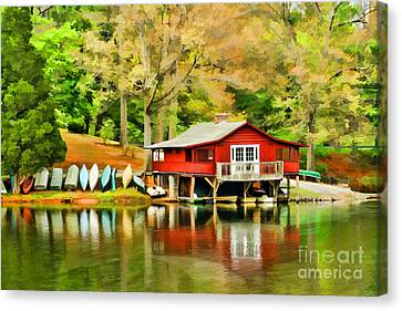 The Lake House Canvas Print by Darren Fisher