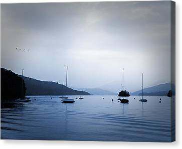 The Lakes Canvas Print by Martin Newman