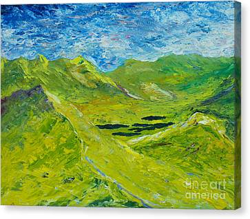 Canvas Print featuring the painting The Lakes Of Killarney  Original Sold by Conor Murphy