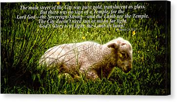 The Lamb Revelation 21 Canvas Print